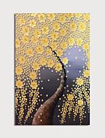 Недорогие -Hang-роспись маслом Ручная роспись - Цветочные мотивы / ботанический Modern Без внутренней части рамки