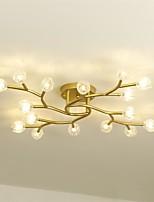 Недорогие -QIHengZhaoMing Потолочные светильники Рассеянное освещение Окрашенные отделки Металл Стекло 110-120Вольт / 220-240Вольт