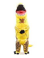 Недорогие -Динозавр Надувной костюм Взрослые Муж. Хэллоуин Хэллоуин Фестиваль / праздник Вискоза / полиэфир Желтый Муж. Жен. Карнавальные костюмы / трико / Комбинезон-пижама / Дополнительная батарея коробка
