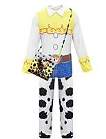 Недорогие -Дети Девочки Уличный стиль Контрастных цветов Длинный рукав Набор одежды Белый