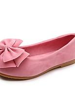 Недорогие -Девочки Удобная обувь Полотно На плокой подошве Маленькие дети (4-7 лет) Бант Пурпурный / Красный / Розовый Весна