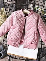 Недорогие -Дети Девочки Классический Однотонный На пуховой / хлопковой подкладке Розовый