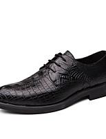 abordables -Homme Chaussures Formal Polyuréthane Printemps été / Automne hiver Simple / Britanique Oxfords Noir