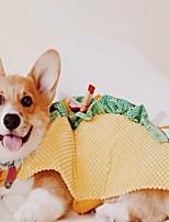Недорогие -Собаки Костюмы Комбинезоны Одежда для собак Пэчворк Желтый Полиэстер Костюм Назначение Зима Хэллоуин