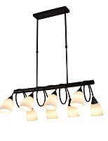 Недорогие -8-головная старинная современная люстра стеклянный остров подвеска гостиная спальня столовая огни