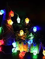 Недорогие -хэллоуин череп кости свет строка света украшения 10 светодиодные подвесные светильники 1.2 м