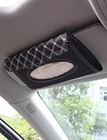 Недорогие -Кожа автомобиля солнцезащитный козырек автоматическая накачка салфеткой коробка кассетные аксессуары креативная подставка съемный держатель салфеток органайзер для авто