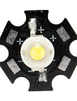 Недорогие -1шт 3w высокой мощности светодиодные печатные платы шарики шариков автомобиля крытый настольная лампа аквариум радиатор - желтый