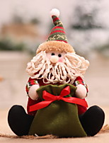 Недорогие -Рождество Новогодняя тематика Хлопковая ткань Мини Мультипликация Рождественские украшения
