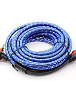 Недорогие -5 / 16,4 фута 2 RCA штекер 2A RCA автомобильный аудиокабель система автомобильного усилителя плетеные медные кабели стайлинг