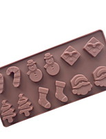 Недорогие -1шт кремнийорганическая резина Новогодняя тематика Необычные гаджеты для кухни Десертные инструменты Инструменты для выпечки