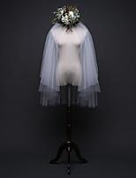 Недорогие -Два слоя Простой Свадебные вуали Фата до кончиков пальцев с Отделка 39,37 В (100 см) Тюль