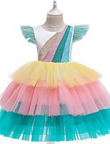 Недорогие -Дети Девочки Симпатичные Стиль Радужный Платье Белый