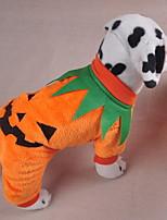 Недорогие -Собаки Инвентарь Одежда для собак Тыква Оранжевый Полиэстер Костюм Назначение Зима Праздник Хэллоуин