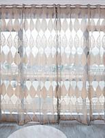 Недорогие -Modern Прозрачный 1 панель Прозрачный Гостиная   Curtains