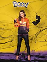 Недорогие -Скелет / Череп Косплэй Kостюмы Взрослые Муж. Стиль Хэллоуин Хэллоуин Фестиваль / праздник Полиэстер Оранжевый Муж. Карнавальные костюмы / Кофты