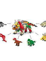 Недорогие -Конструкторы 6 pcs Динозавры Юрский динозавр совместимый Legoing Взаимодействие родителей и детей Игрушки Подарок