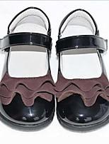 Недорогие -Девочки Детская праздничная обувь Полиуретан На плокой подошве Маленькие дети (4-7 лет) Черный Лето