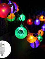 Недорогие -3M Гирлянды 20 светодиоды Тёплый белый / RGB / Белый USB / Для вечеринок / Декоративная Работает от USB 1 комплект / IP44