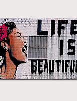 Недорогие -С картинкой Роликовые холсты Отпечатки на холсте - Абстракция Люди Modern Репродукции
