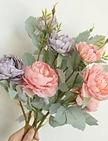 Недорогие -Искусственные Цветы 1 Филиал Классический Классика Свадебные цветы Пионы Вечные цветы Букеты на стол