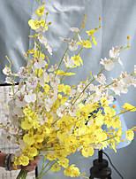 Недорогие -Искусственные Цветы 2 Филиал Классический европейский Пастораль Стиль Орхидеи Вечные цветы Букеты на стол