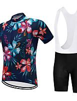 Недорогие -Vendull Цветочные ботанический Муж. С короткими рукавами Велокофты и велошорты-комбинезоны - Красный / Белый Черный / красный Велоспорт Наборы одежды Дышащий Быстровысыхающий Анатомический дизайн