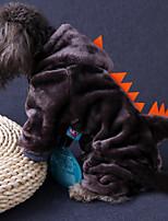 Недорогие -Собаки Инвентарь Одежда для собак Геометрический принт Черный Коричневый Темно-синий Полиэстер Костюм Назначение Зима Праздник Хэллоуин