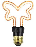 Недорогие -1шт 4 W LED лампы накаливания 1 lm E26 / E27 1 Светодиодные бусины Мягкая нить Тёплый белый 220 V