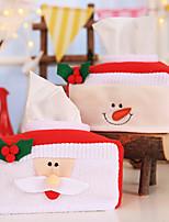 Недорогие -Праздничные украшения Рождественский декор Рождество / Рождественские украшения Мультипликация / Декоративная / Милый Красный 2pcs