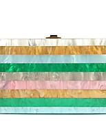 Недорогие -Жен. Цепочки Акрил / Полиэстер Вечерняя сумочка Контрастных цветов Цвет радуги