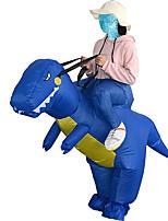 Недорогие -Динозавр T-Rex Надувной костюм Взрослые Муж. Хэллоуин Хэллоуин Фестиваль / праздник Вискоза / полиэфир Синий Муж. Жен. Карнавальные костюмы / трико / Комбинезон-пижама / Руководство пользователя