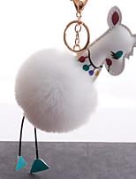 Недорогие -Брелок корейский Милая Мода Модные кольца Бижутерия Черный / Светло-синий / Светло-Розовый Назначение Повседневные Свидание