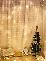 Недорогие -светодиодный занавес свет шнура 3 * 1 метр 150led Рождество свадебные украшения маленький фонарь ледяной полосы света
