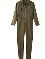 Недорогие -Жен. Уличный стиль Jogger Брюки - Однотонный Военно-зеленный S M L