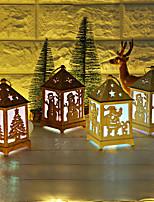 Недорогие -Праздничные огни Новогодняя тематика / Праздник деревянный Для вечеринок Рождественские украшения