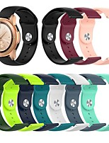 cheap -Watch Band for Gear Sport / Gear S2 Classic / Samsung Galaxy Watch 42mm Samsung Galaxy Sport Band / Classic Buckle Silicone Wrist Strap