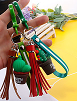 Недорогие -Брелок Кактус корейский Милая Мода Модные кольца Бижутерия Зеленый / Синий Назначение Подарок Повседневные