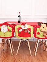 Недорогие -1 шт. Рождественские чехлы на стулья для гостиной гостиничный ресторан набор стол стул мультфильм лыжи украшения