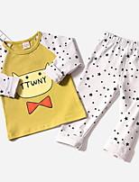Недорогие -Дети (1-4 лет) Мальчики Активный Мультипликация Длинный рукав Набор одежды Белый