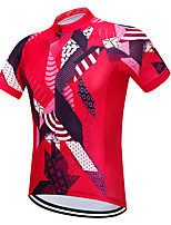 Недорогие -Vendull Муж. С короткими рукавами Велокофты Красный Велоспорт Джерси Верхняя часть Дышащий Быстровысыхающий Анатомический дизайн Виды спорта 100% полиэстер Горные велосипеды Шоссейные велосипеды