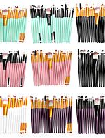 Недорогие -La Milee 20 шт. набор кисточек для макияжа набор теней для век пудра подводка для глаз губы макияж кисти косметический набор инструментов красоты горячий