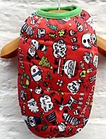 Недорогие -Собаки Коты Животные Жилет Одежда для собак Тюль Черный Красный Розовый Полиэстер Костюм Назначение Зима Праздник Хэллоуин
