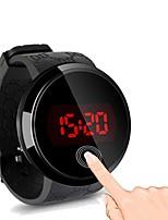 Недорогие -Муж. электронные часы Цифровой силиконовый Черный / Белый Светящийся Светодиодная лампа Повседневные часы Цифровой На каждый день Мода - Черный Белый