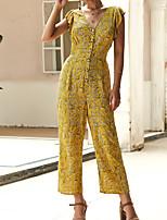 Недорогие -Жен. Классический Желтый Синий Красный Комбинезоны, Контрастных цветов S M L
