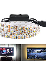 Недорогие -5м гибкие светодиодные полосы света 300 светодиодов smd3528 5мм теплый белый / белый / красный непромокаемый / праздничный / декоративный 5 в 1 комплект