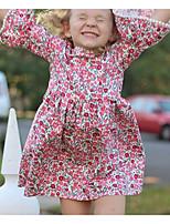 Недорогие -Дети Девочки Горошек Платье Розовый