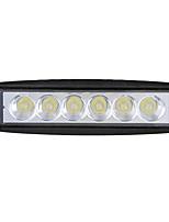 Недорогие -18 Вт светодиодные работы грузовик противотуманные фары внедорожник средний чистый предупредительный световой сигнал мотоцикла флеш свет 6 дюймов полосы света