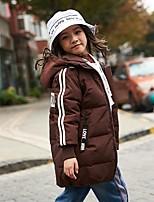 Недорогие -Дети Девочки Классический С принтом На пуховой / хлопковой подкладке Черный