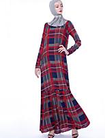 Недорогие -арабский Взрослые Жен. Косплей На каждый день Косплэй Kостюмы Арабское платье хиджаб Назначение Для вечеринок Halloween Хлопок Хэллоуин Карнавал Маскарад Платье